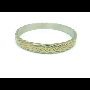 J.Crew Gold Braided Bangle Bracelet